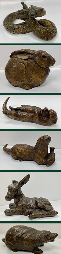 Small images of bronze sculptures