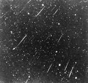 A view of the Leonid shower of 1966, taken from Kitt Peak National Observatory near Tucson, Arizona