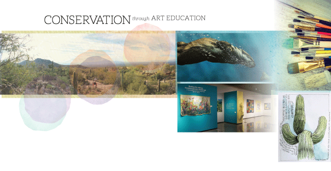 Museum Grounds, Ironwood Gallery exhibit and artwork created by Art Institute students - Conservation through Art Education