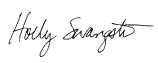 Holly Swangstu (signature)