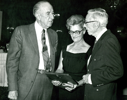 Bill Carr, Phoebe and Arthur Pack with ASDM Recognition Award