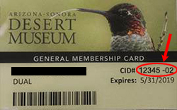 Your CID number is on the back of your membership card